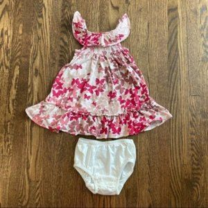 Gap Butterfly Print Smocked Dress With Bloomers